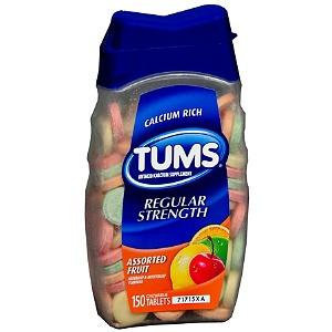 Tums Antacid Calcium Supplement Fruit