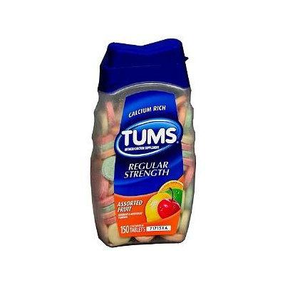 Tums Antacid Calcium Supplement Fruit