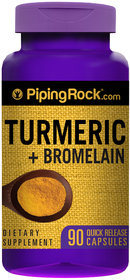 Piping Rock Turmeric & Bromelain 90 Capsules