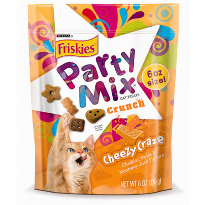 Friskies® Party Mix Cheezy Craze Crunch Cat Treats