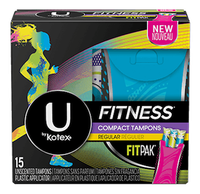 U by Kotex Fitness* Tampons with FITPAK Regular
