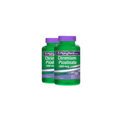 Piping Rock Chromium Picolinate 1000mcg 2 Bottles x 180 Capsules