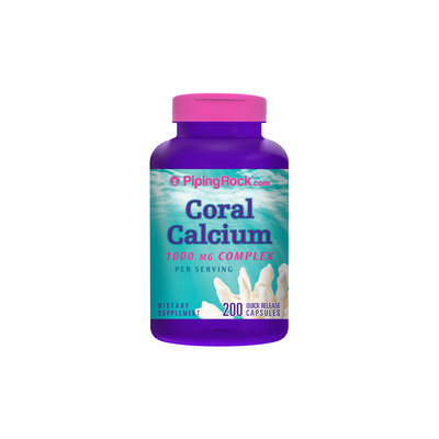 Piping Rock Ultra Coral Calcium 1000mg Complex 200 Capsules