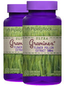 Piping Rock Graminex Flower Pollen Extract 500mg 2 Bottles x 60 Capsules