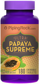 Piping Rock Papaya Enzyme Supreme 180 Chewable Tablets