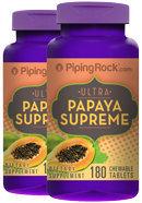 Piping Rock Papaya Enzyme Supreme 2 x 180 Chewable Tablets