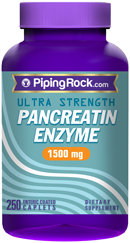 Piping Rock Pancreatin Enzyme 1500mg 250 Coated Caplets