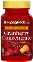 Piping Rock Cranberry 15,000mg + C 90 Capsules