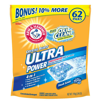 ARM & HAMMER™ Crystal Burst Ultra Power Plus OxiClean Packs