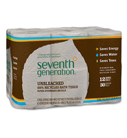 Seventh Generation Unbleached 100% Recycled Bathroom Tissue
