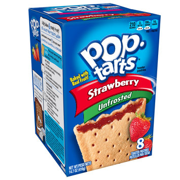 Kellogg's Pop-Tarts Unfrosted Strawberry Toaster Pastries