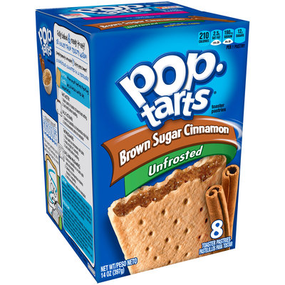 Kellogg's Pop-Tarts Unfrosted Brown Sugar Cinnamon Toaster Pastries