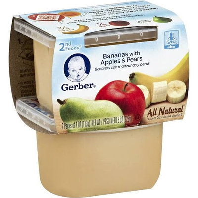 Gerber® 2nd Foods  Natural Select Baby Food Bananas With Apples & Pears