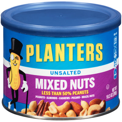 Planters Unsalted Mixed Nuts Can
