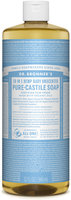 Dr. Bronner's 18-in-1 Hemp Baby Unscented Pure - Castile Soap