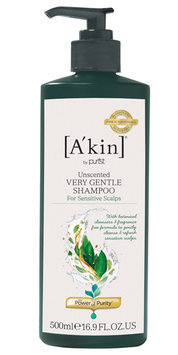 A'kin Unscented Very Gentle Natural Shampoo 500ml