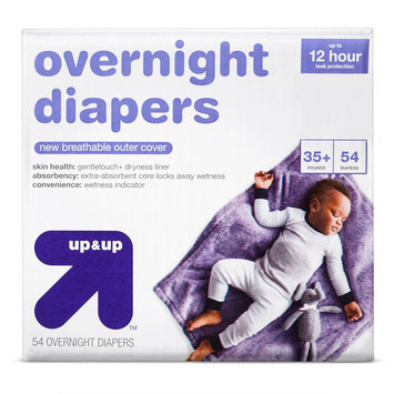 up&up™ overnight baby diapers size 6