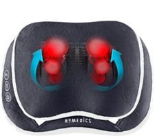 Homedics 3D Shiatsu Heated Massage Pillow with Cover and Strap