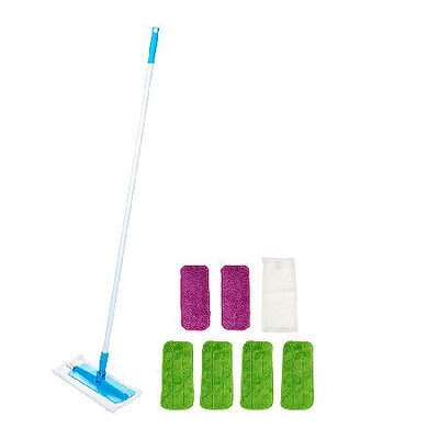 Don Aslett's Super-size Microfiber Mop with 8 Washable Pads
