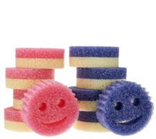 Scrub Mommy (8) Dual-Sided Scratch Free Sponge Set w/ (2) Scrub Daddy