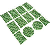 12-Piece Microfiber Sponge Set by Campanelli Products