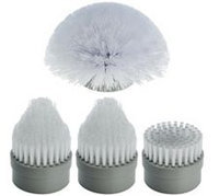 Qvc 4 Piece Replacement Power Scrubber Cleaning Head Brush Set