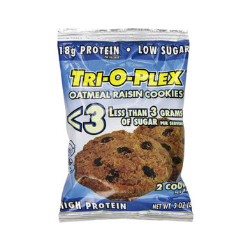Chef Jay's Tri-O-Plex Low Sugar Oatmeal Raisin Cookies