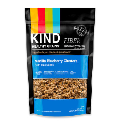 KIND® Vanilla Blueberry Clusters With Flax Seeds