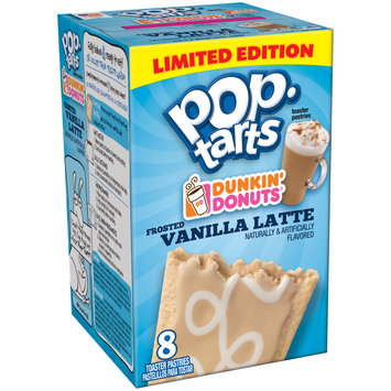 Pop-Tarts Dunkin' Donuts' Frosted Vanilla Latte Toaster Pastries