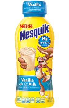 Nestle Nesquik Protein Plus Vanilla Milk Beverage Bottle