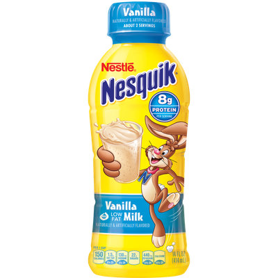 Nestle Nesquik Protein Plus Vanilla Milk Beverage Bottle