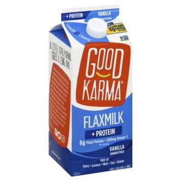 Good Karma Flax Milk Dairy Free Protein+ Unsweetened Vanilla