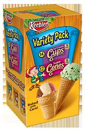 Keebler Ice Cream Cups Sugar Cones Variety Pack