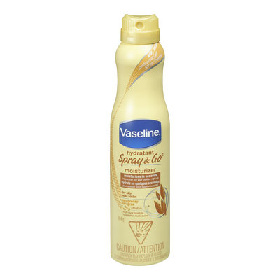 Vaseline Spray & Go Moisturizer, For Dry Skin, Non-Greasy