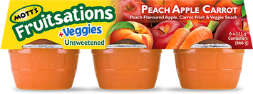 MOTT'S Fruitsations® +Veggies Unsweetened Peach Apple Carrot