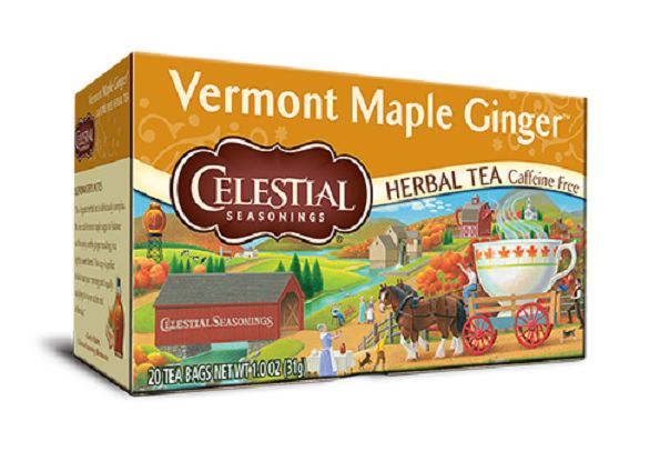 Celestial Seasonings® Vermont Maple Ginger Herbal Tea Caffeine Free