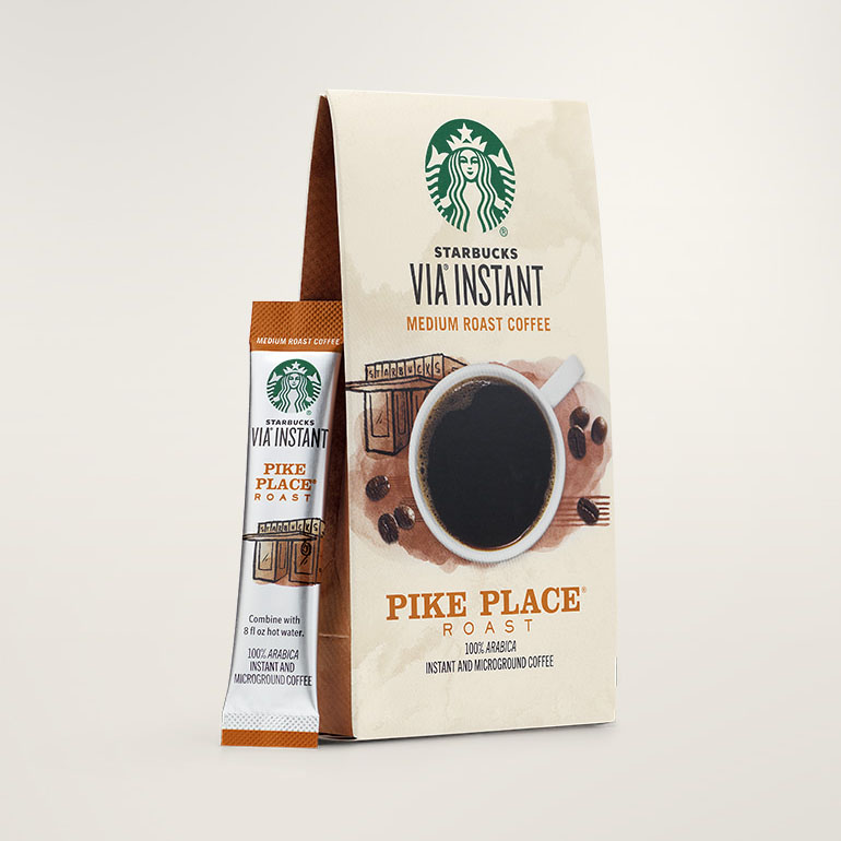 STARBUCKS® Pike Place® Roast Smooth & Balanced VIA® Instant