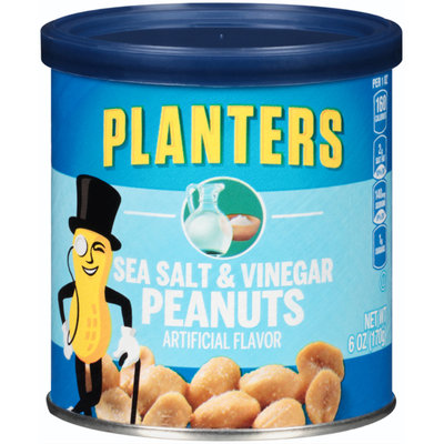 Planters Sea Salt And Vinegar Peanuts Can