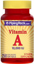 Piping Rock Vitamin A 10,000 IU 250 Softgels