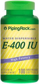 Piping Rock Vitamin E 400 IU Water Soluble 100 Softgels
