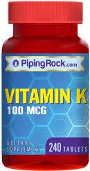 Piping Rock Vitamin K 100mcg 240 Tablets