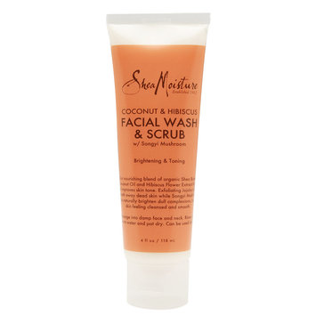 SheaMoisture Coconut & Hibiscus Facial Wash & Scrub