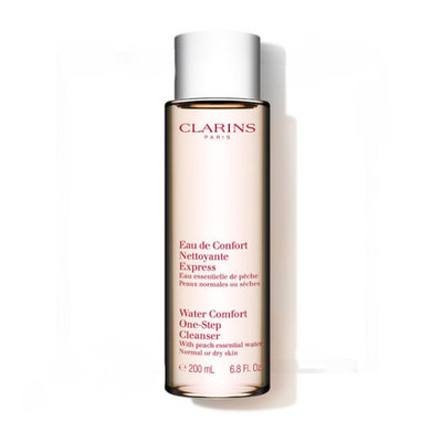 Clarins Water Comfort One-Step Cleanser With Peach Essential Water For Normal Or Dry Skin