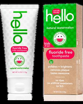 Hello Kids Fluoride Free Toothpaste Natural Watermelon