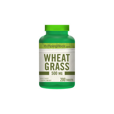 Piping Rock Wheat Grass 500 mg 200 Tablets