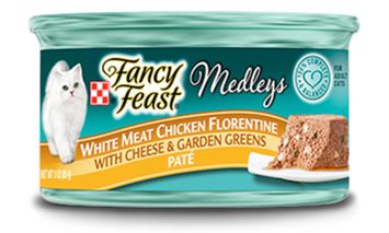Fancy Feast® White Meat Chicken Florentine Paté Cat Food With Cheese & Garden Greens