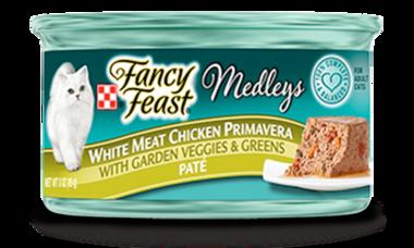 Fancy Feast® White Meat Chicken Primavera Paté Cat Food With Garden Veggies & Greens