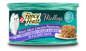 Fancy Feast® White Meat Chicken Primavera Wet Cat Food With Garden Veggies & Greens In A Classic Sauce