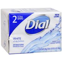 Dial® White Antibacterial Deodorant Soap