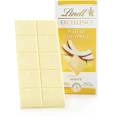 Lindt White Coconut Excellence Bar